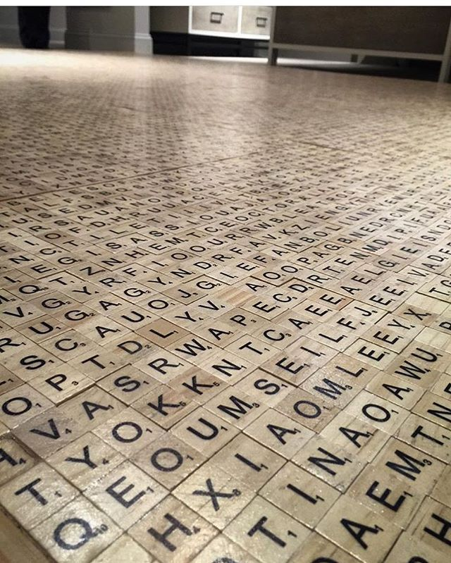 Wouldn't this be a genius floor for a library or a game rooms?