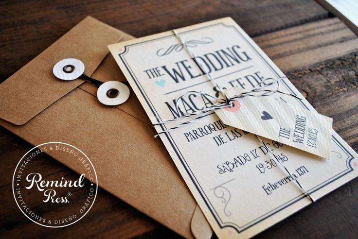 Remind Press Glosario de invitaciones de casamiento
