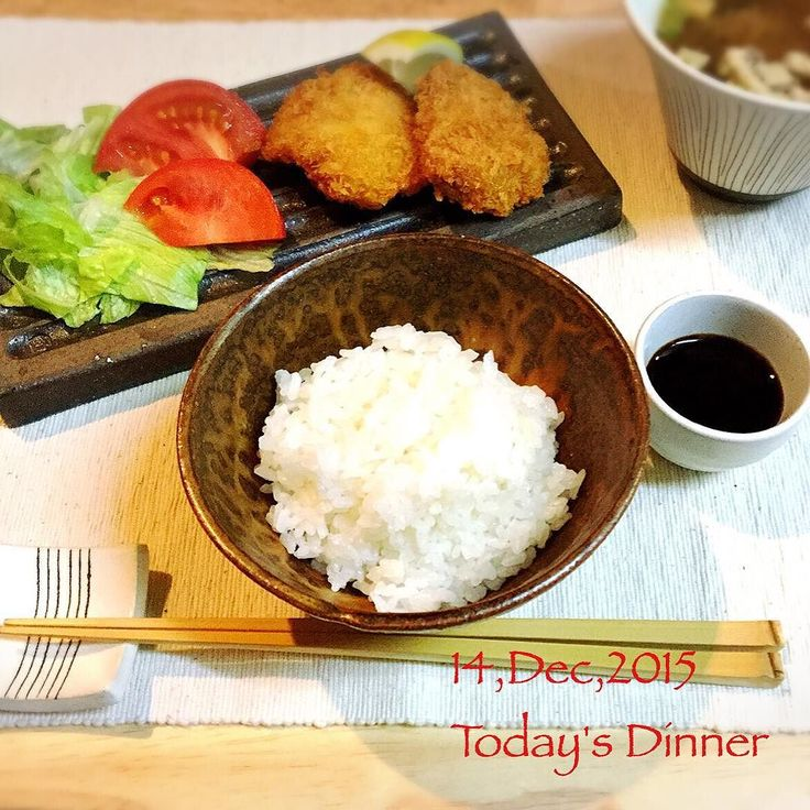Follow and tag @inkedmagz to get featured 14Dec2015 Today's Dinner  みなさま  こんばんはー 今日もお疲れさまでした #ヒレカツ  作りました 豚肉安いしビタミン取れますから どんどん食べましょう 新しく少量の揚げ物用に #ミルクポット #silit を買いました なかなか便利です 器は #奥田章 さんのもの 長皿はリバーシブルになっていて片側は白地です 正方形の物もあわせて購入 十草のフリーカップには 油揚げのお味噌汁を 我が家に新しくお迎えした器たち 大切に使いましょう   #instapic#Instafood#instadaily#Instagramjapan#Japanesefood#foodphoto#instadailyphoto  #お家ご飯 #幸せの食卓部 #料理日記#料理写真#料理女子#料理男子#料理下手#料理初心者#料理上手になりたい #文五郎窯#奥田章 #kaumo#KAUMO#KURASHIRU by kana103762