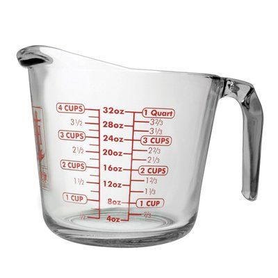 Fox Run Craftsmen Anchor 3-Piece Glass Measuring Cup Set