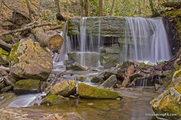 Table Falls in the Quehanna Wild Area of Elk County, Pennsylvania. - http://uncoveringpa.com/table-falls-quehanna-wild-area