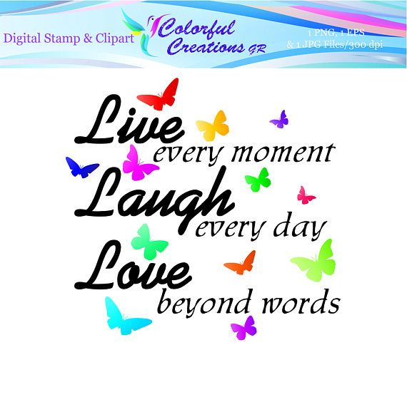 Live Laugh Love Digital Stamp For Personal And Commercial Use