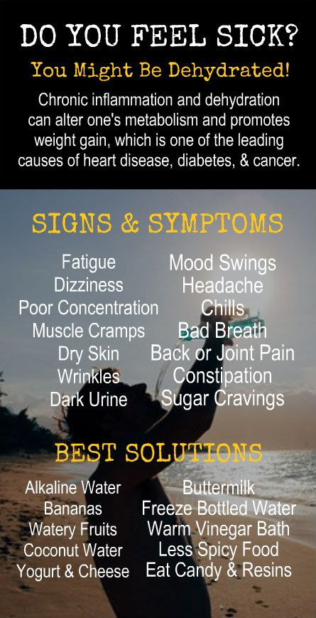 DO YOU FEEL SICK? Signs & Symptoms of Dehydration and Best Solutions. Learn more about the health benefits of alkaline rich Kangen Water; the world's most hydrating water through micro clustering that occurs during the ionization process. Change your water, change your life.