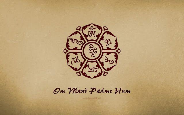 Mi mantra tibetano favorito!!! Om- Meditación/Dicha. Ma-Paciencia. Ni-Disciplina. Pad-Sabiduría. Me-Generosidad. Hum-Diligencia.