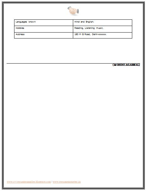25+ parasta ideaa Pinterestissä Resume format for freshers - official resume format download