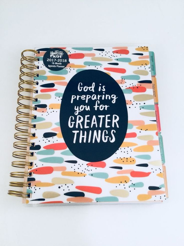 FAITH 18-Month Weekly, Monthly Agenda Planner 2017-2018 Stickers, Scripture #IllustratedFaith