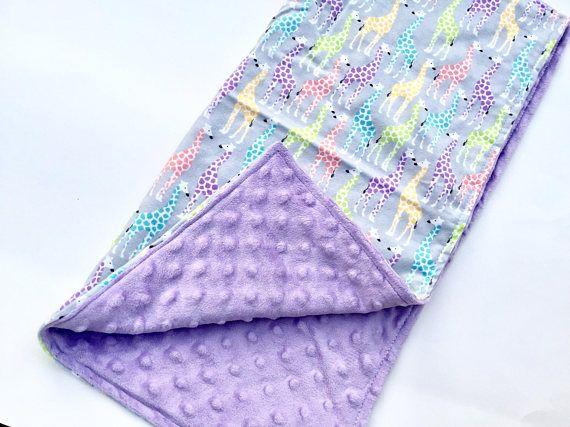 Baby Girl Blanket Minky Blanket Security Blanket Lovie Toddler