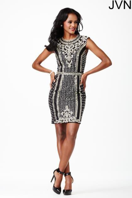 JVN by Jovani Beaded Short Dress JVN27609 - Homecoming 2015 ...