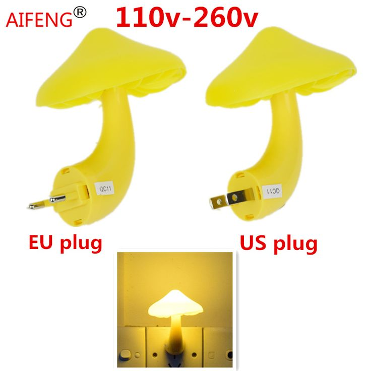 AIFENG Automatic induction light-operated switch room adornment small night lamp bracket light orange yellow Warm white  #Affiliate