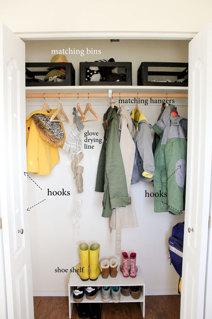 Coat Closet Organization // MichaelsMakers Delia Creates