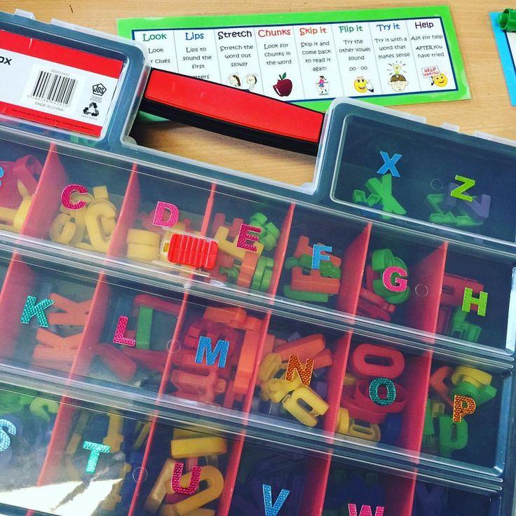 Magnetic letter organisation for my guided reading table  #teachersdownunder #kindergartenrocks #kindergarten #teacherhacks #teachersfollowteachers #teachersofinstagram #teachersloveinstagram #aussieteachers #aussieteachertribe