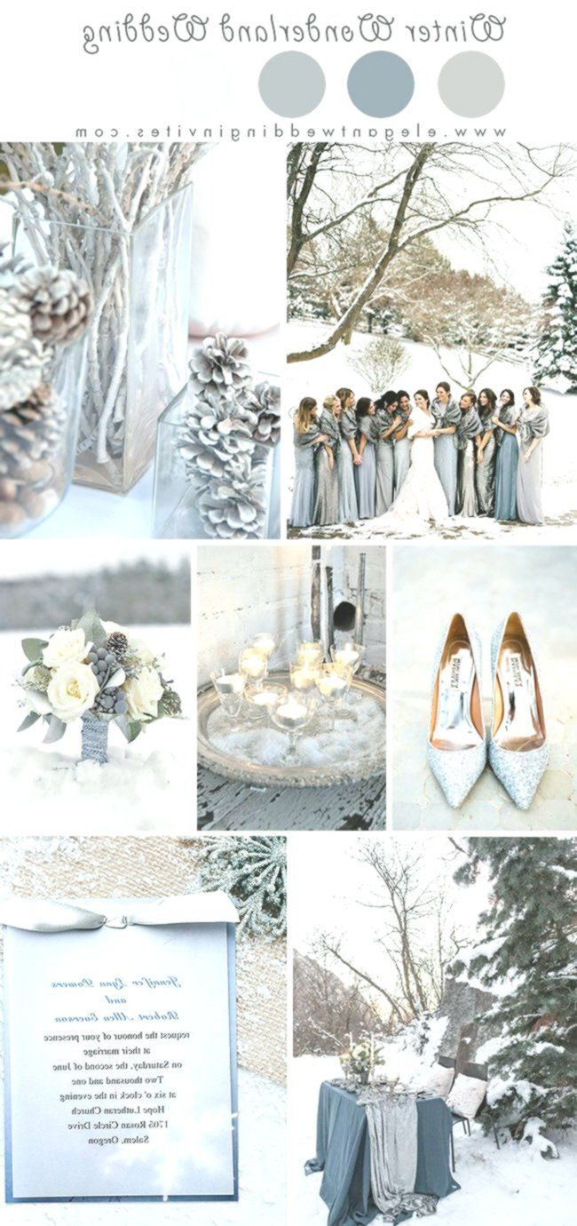 Glimmering Winter Wonderland Wedding Ideas In Shades Of Silver And Blue Winter Wedding Colors Wedding Colors Wonderland Wedding