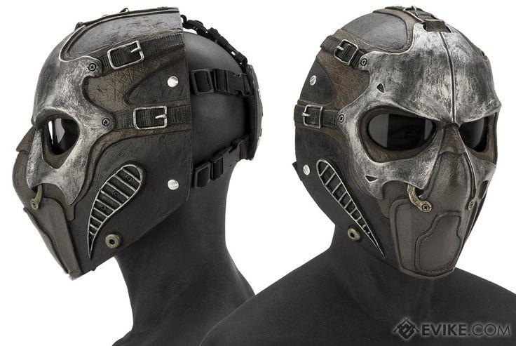 Evike.com R-Custom Fiberglass  Smoke Full Face Mask (Color: Silver / Smoked Lens)