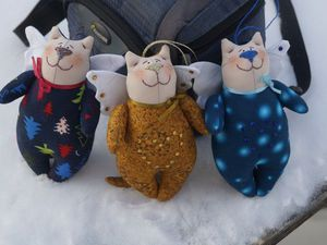 Шьем своими руками нарядного котика в стиле тильда. Ярмарка Мастеров - ручная работа, handmade.