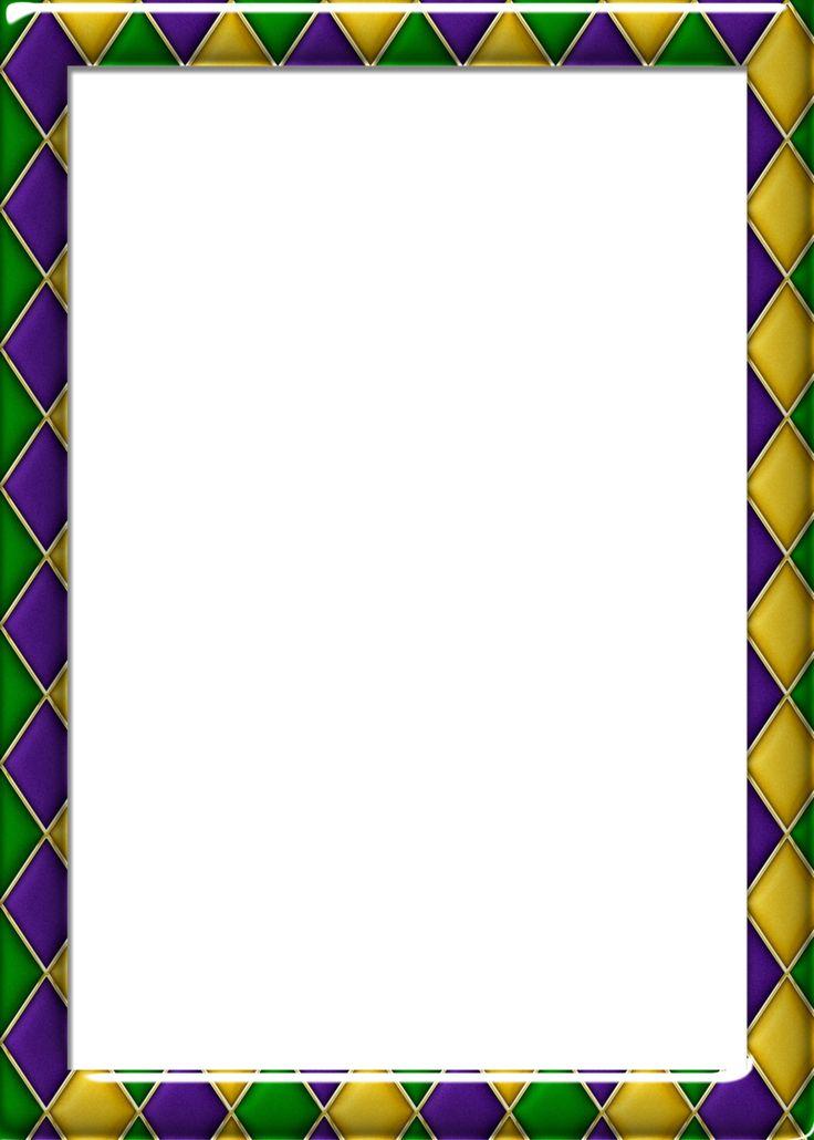 free 5x7 harlequin pattern 1 mardi gras frame by