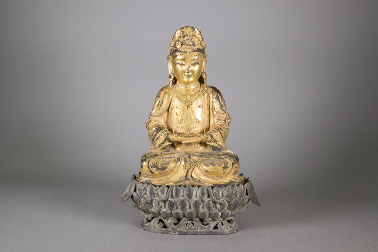 Lot 269 Rare & Important Ming Period Gilt Buddha