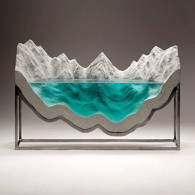 Best GLASS Images On Pinterest Friends Family Instagram - Incredible layered glass table mimics oceans depths