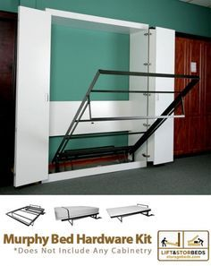 Murphy Bed DIY Kit by Lift & Stor Beds.. Maybe a better idea... The bunk bed still takes up a lot of room in their bedroom!