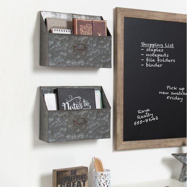 Hollaway 13 W X 10 H X 4 D Pocket Shelf Organizers With Label Holder Mail Organizer Wall Shelf Organization Baskets On Wall