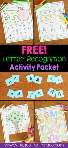 Are you looking for some fun ideas and activities for teaching letter recognition? Help your students master uppercase letters with this activity packet. Kids practice identifying letters with 4 engaging worksheets and 1 fun center activity. Great for preschool and kindergarten classrooms and homeschool. My kiddos love learning the alphabet with this packet! Click on the picture to download a free sample!