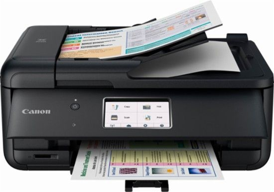Canon Pixma Tr8520 Wireless All In One Inkjet Printer Black 2233c002 Best Buy Mobile Print Best Printers Multifunction Printer