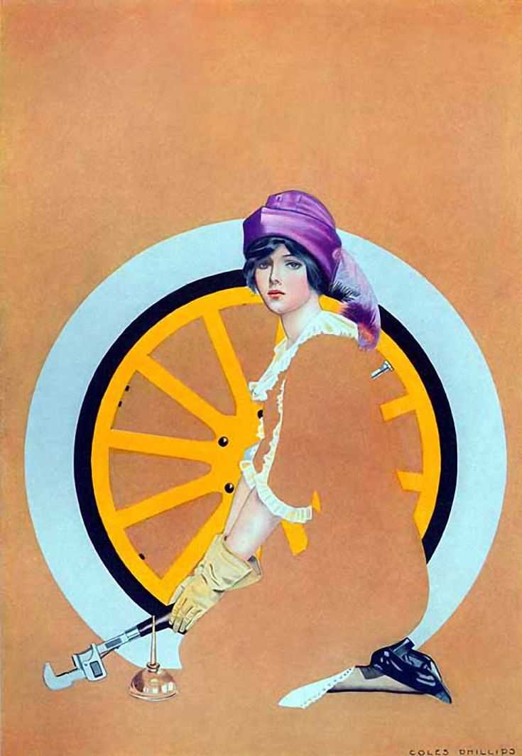Print from the cover of the August 1913 issue of Good Housekeeping magazine - by Coles Phillips