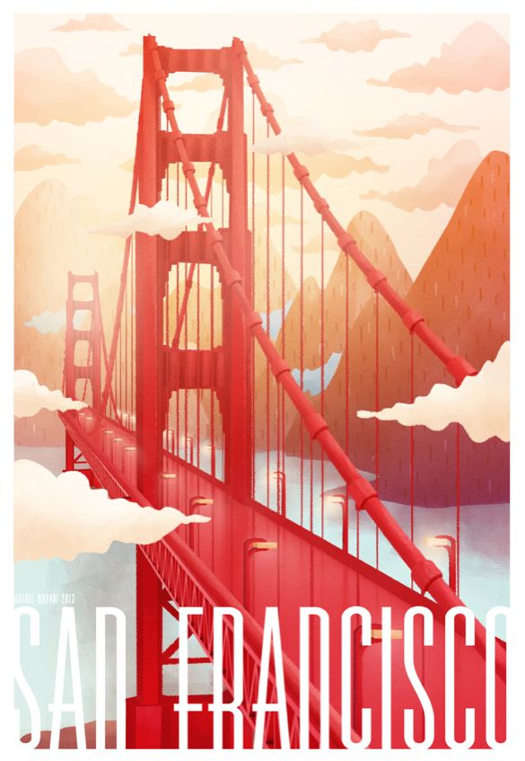Big Cities need bridges and communities need them in a metaphorical sense...the bridges built with respect, friendship and trust... SAN FRANCISCO by Rafael Mayani, via Behance