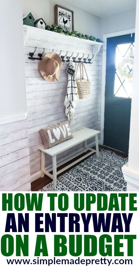 See how we updated our small entryway on a budget and check out the before and after pictures!