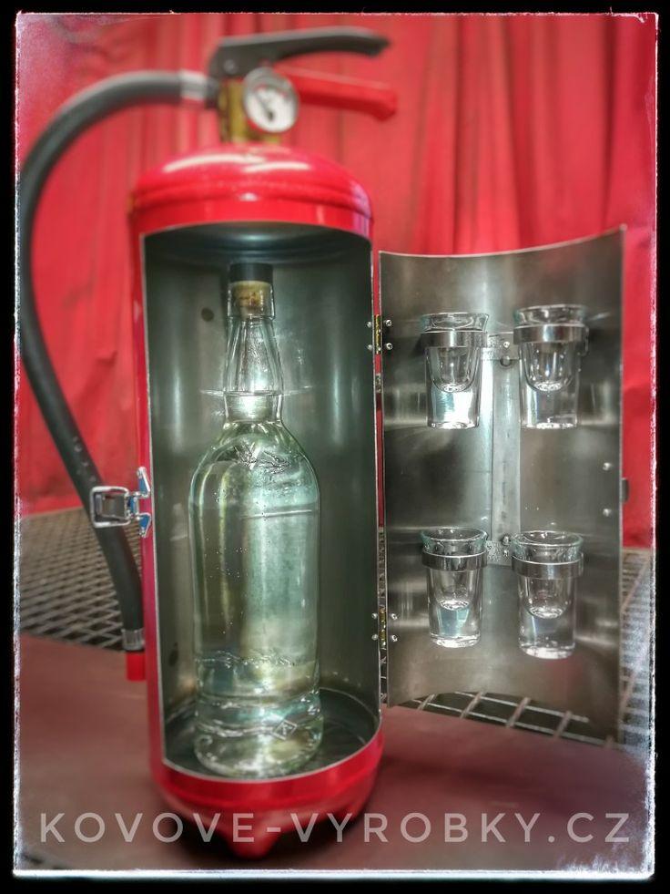 Fire extinguisher minibar Slivovice