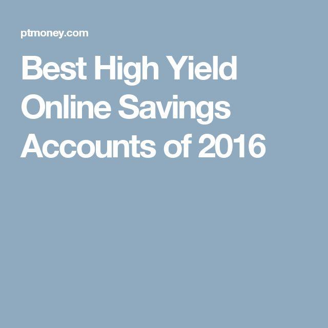 Best High Yield Online Savings Accounts of 2016