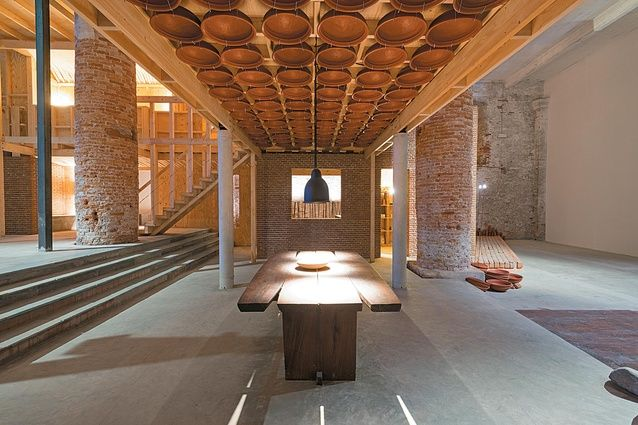'Wall House One to One' installation at the Venice Biennale, 2012. Image: Andreas Deffner, Alka Hingorani