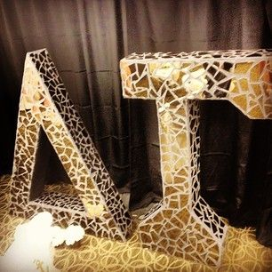 Cutest Idea I have seen in a long time broken mirror letters.  A #DIY craft to do with your sisters!