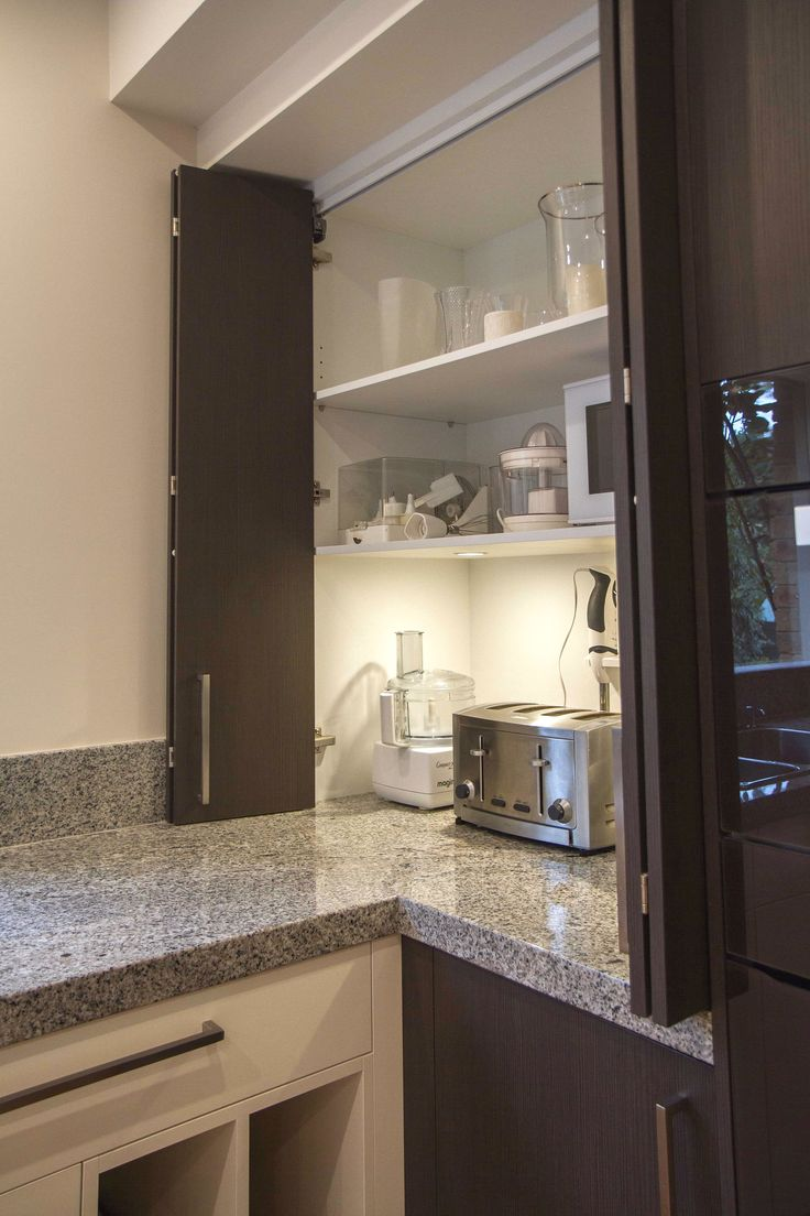 Contemporary kitchen with appliance pantry. www.thekitchendesigncentre.com.au