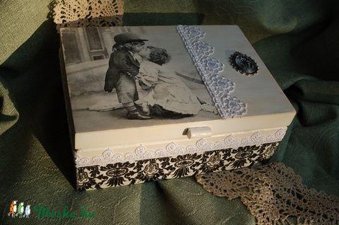 Esküvős vagy teás doboz vintage stílusban (Pearlbox) - Meska.hu