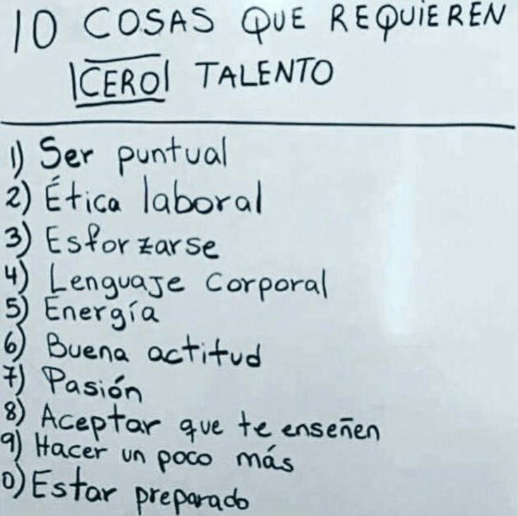 10 cosas que requieren cero talento.