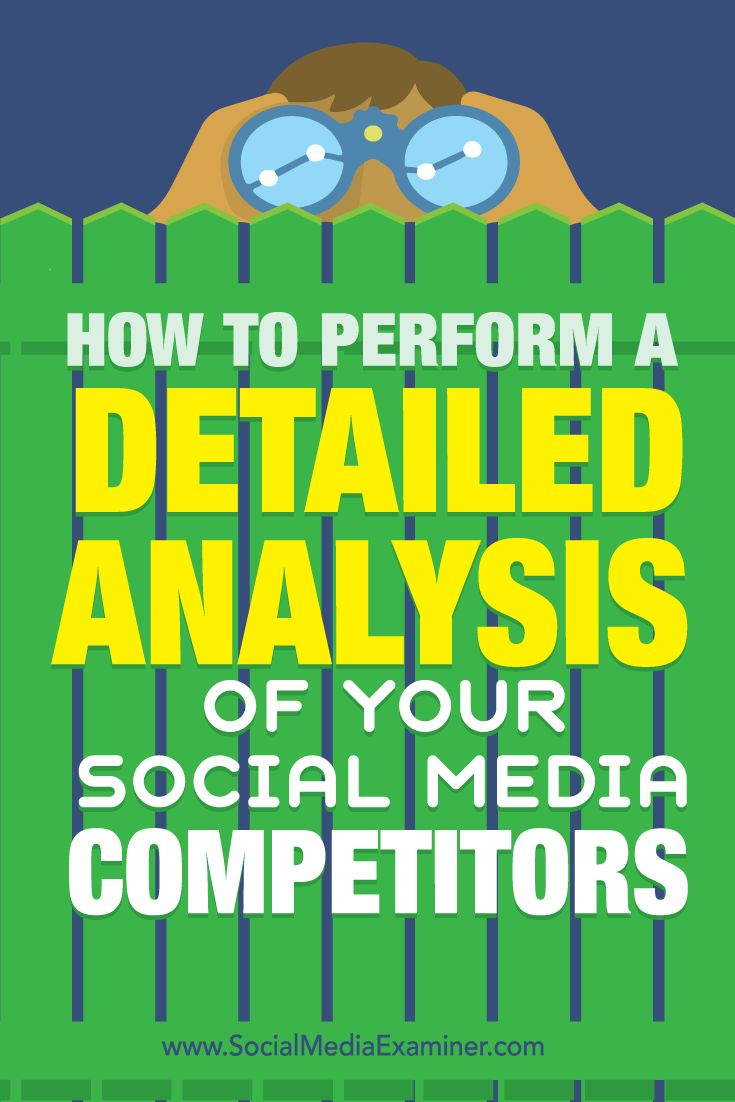 Do you want better results from social media?  If you're not getting the results you want from social media, a little research and the right tool can help you refine your social media strategy.  In this article, you'll discover how to perform a detailed competitive analysis and improve your social strategy. Via @smexaminer