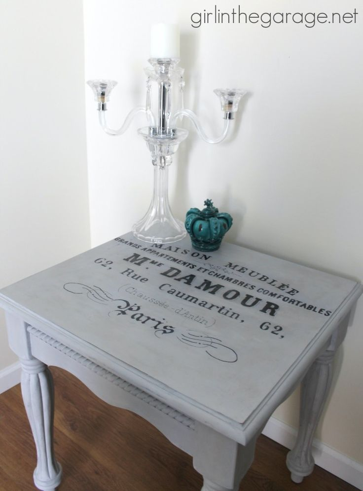 French Typography Table with Annie Sloan Chalk Paint I girlinthegarage.net