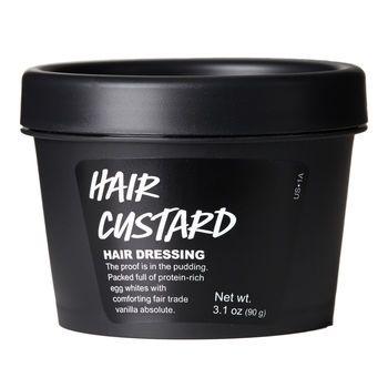 Hair Custard Hair Dressing: Smooth and soften your mane with this sweet vanilla-scented leave-in.