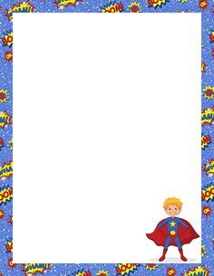 Printable superhero border. Free GIF, JPG, PDF, and PNG downloads at http://pageborders.org/download/superhero-border/