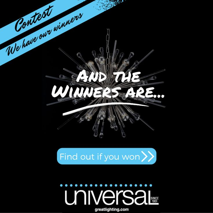 Are you a winner?! Our first ever contest was a HUGE success. Thanks to everyone who played. Click the link to see if you are a winner!  http://www.greatlighting.com/contests-post