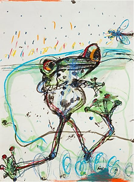 """John Olsen """"Anticipation"""" from Etching House"""