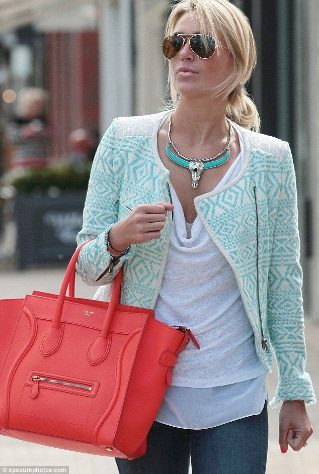 Back to work with a bang! Alex Gerrard looks ready for business as she heads out in Alderley Edge