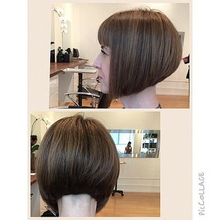 Graduated bob with fringe and shaved nape - Bob Hairstyles - Pinterest ...