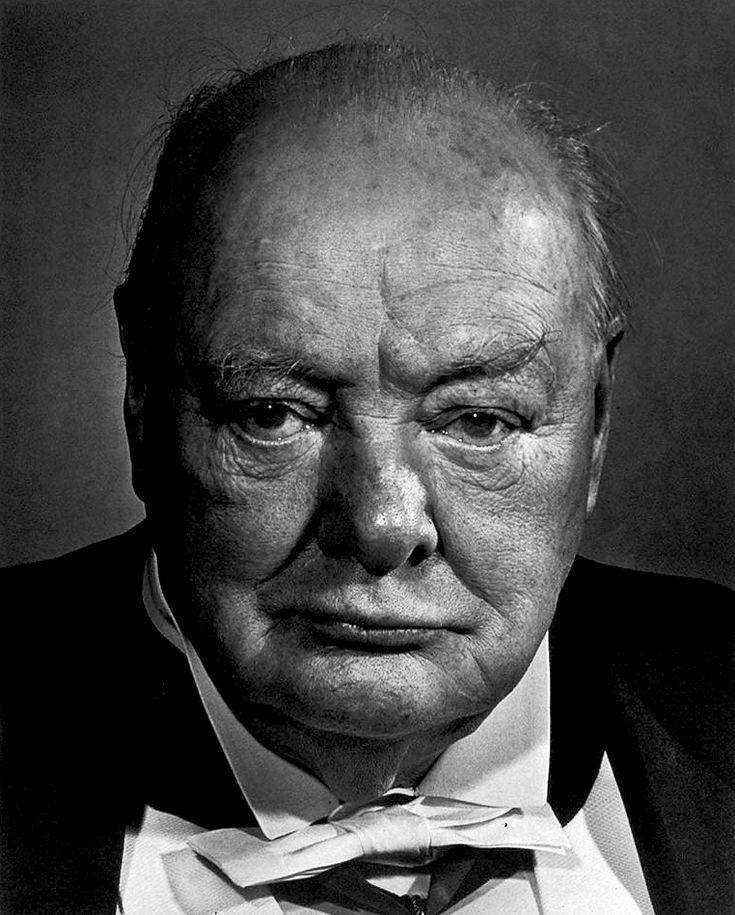 photos by Yousuf Karsh — Winston Churchill