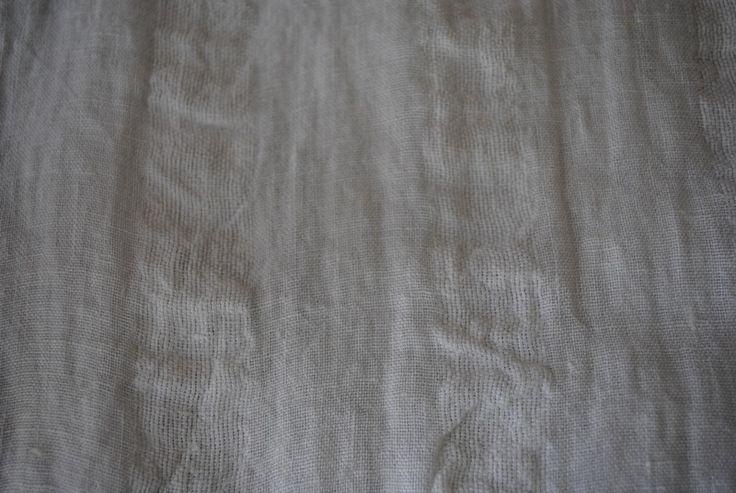 Vanille Stripe Cream 100% linen - 115cm