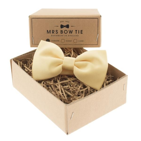 Satin in Yellow from Mrs Bow Tie