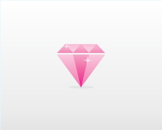 #Pink #Diamond Vector Icon no 99 uploaded by vectors Use it To Create Your Logo