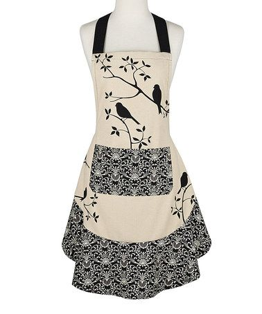 Another great find on #zulily! Black Bird Ruffle Apron #zulilyfinds                                                                                                                                                                                 More