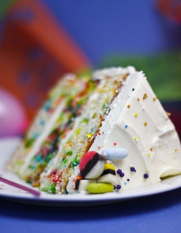 Sprinkle Cake Recipe~ this website also has so many cool baking ideas.
