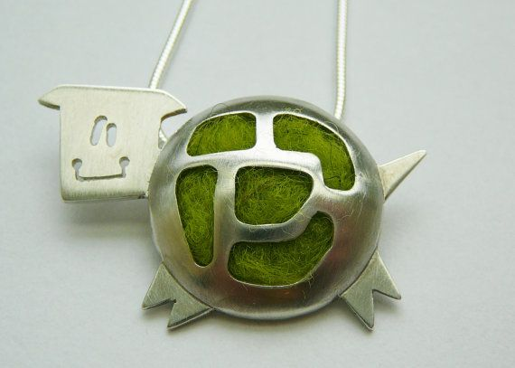 Silver Cow pendant funky cow sterling silver by mylittleanimals